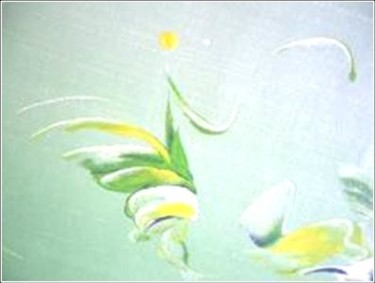 """Painting titled """"Springy 09"""" by Delphine Bernard, Original Art,"""