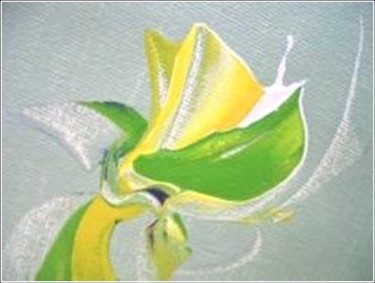 """Painting titled """"Springy 10"""" by Delphine Bernard, Original Art,"""
