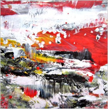 """Painting titled """"Abstract 02"""" by Delphine Bernard, Original Art,"""