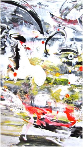 """Painting titled """"Abstract 08"""" by Delphine Bernard, Original Art,"""