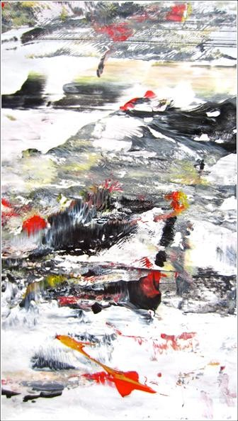 """Painting titled """"Abstract 10"""" by Delphine Bernard, Original Art,"""