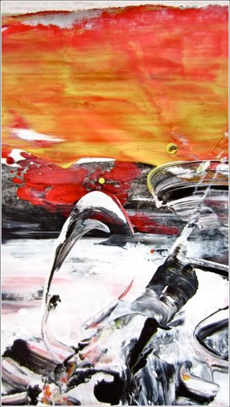 """Painting titled """"Abstract 11"""" by Delphine Bernard, Original Art,"""