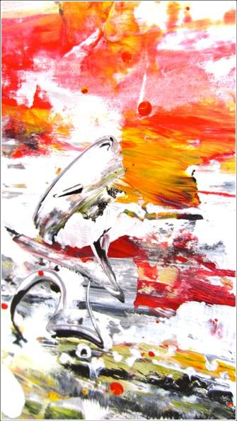 """Painting titled """"Abstract 12"""" by Delphine Bernard, Original Art,"""