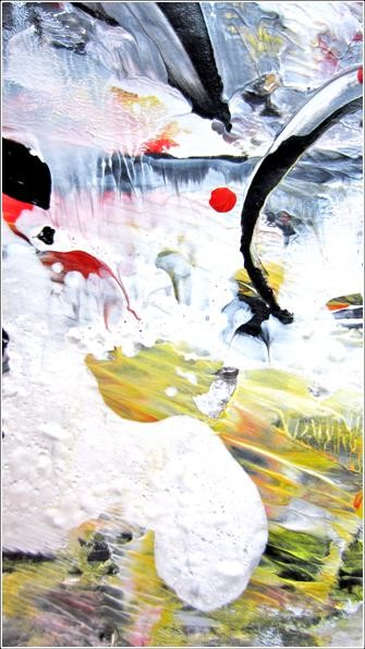 """Painting titled """"Abstract 13"""" by Delphine Bernard, Original Art,"""