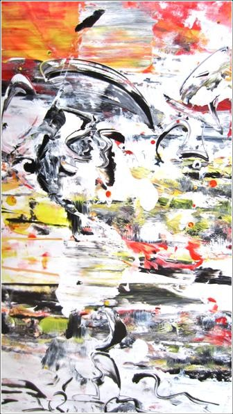 """Painting titled """"Abstract 14"""" by Delphine Bernard, Original Art,"""