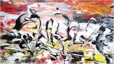 """Painting titled """"Abstract 15"""" by Delphine Bernard, Original Art,"""