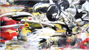 """Painting titled """"Abstract 16"""" by Delphine Bernard, Original Art,"""