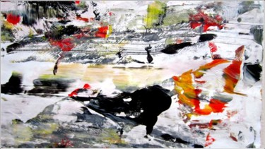 """Painting titled """"Abstract 17"""" by Delphine Bernard, Original Art,"""