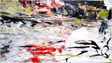 """Painting titled """"Abstract 18"""" by Delphine Bernard, Original Art,"""