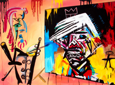 Celebrity Painting, acrylic, expressionism, artwork by T. Angot