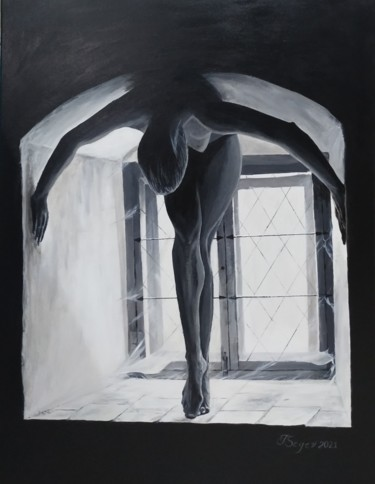 """Painting titled """"Light and shadow"""" by Tali Segev, Original Art, Acrylic Mounted on Stretcher frame"""