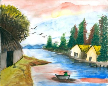 """Painting titled """"Natural Beauty of I…"""" by Tanmay, Original Art, Oil"""