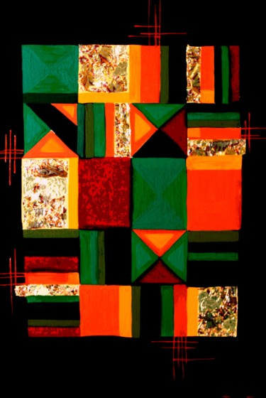 """Painting titled """"Gold and Green"""" by Tanya Firn, Original Art, Oil"""