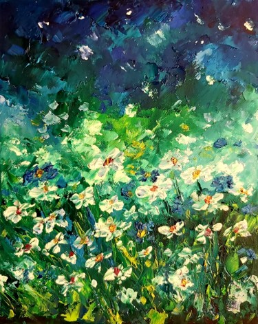 """Painting titled """"Flowers painting oi…"""" by Tatiana Kril, Original Art, Oil"""