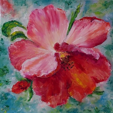 """Painting titled """"Red flowers paintin…"""" by Tatiana Kril, Original Art, Oil"""