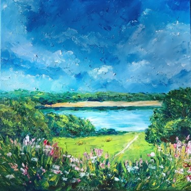 """Painting titled """"Landscape painting…"""" by Tatiana Kril, Original Art, Oil"""