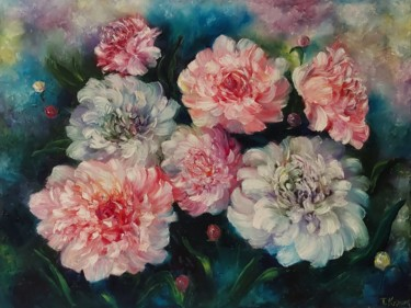 """Painting titled """"Flowers painting.Oi…"""" by Tatiana Kril, Original Art, Oil"""