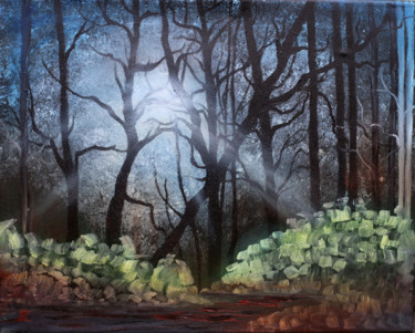 """Painting titled """"Magic forest Gift O…"""" by Tanja Frost, Original Art, Oil Mounted on Stretcher frame"""