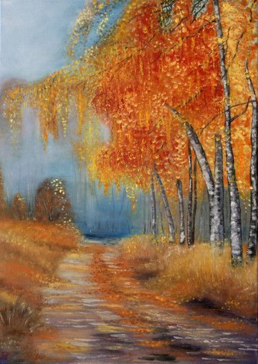 """Painting titled """"Step by step..Gift…"""" by Tanja Frost, Original Art, Oil Mounted on Stretcher frame"""