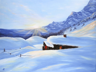 """Painting titled """"Lockdown"""" by Tanja Frost, Original Art, Oil Mounted on Stretcher frame"""