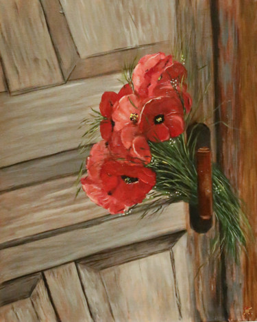"""Painting titled """"True Love - oil pai…"""" by Tanja Frost, Original Art, Oil Mounted on Stretcher frame"""
