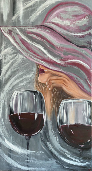 """Painting titled """"Womens day... oil+a…"""" by Tanja Frost, Original Art, Oil Mounted on Stretcher frame"""