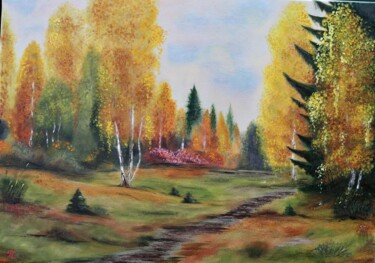 """Painting titled """"One autumn day - or…"""" by Tanja Frost, Original Art, Oil"""