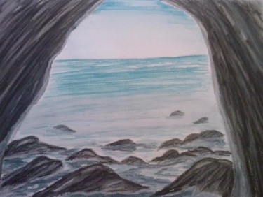 """Painting titled """"Sea View"""" by Tblee, Original Art, Oil"""
