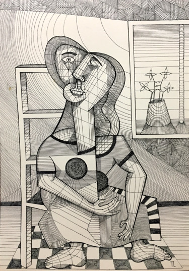 Women Drawing, marker, figurative, artwork by José Roberto Teixeira Leite Junior (Teixeira Leite)