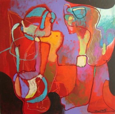 """Painting titled """"THE TWO X6"""" by Teofana Zaric, Original Art,"""