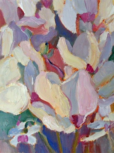 """Painting titled """"689 Cyclamen III"""" by Don Bourret, Original Art, Oil"""