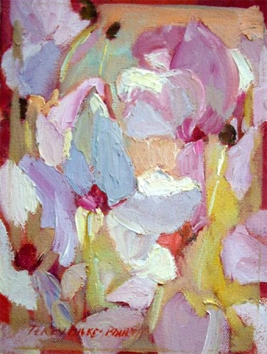 """Painting titled """"Cyclamen IV"""" by Don Bourret, Original Art, Oil"""