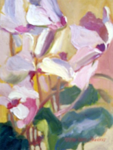 """Painting titled """"Cyclamen V"""" by Don Bourret, Original Art, Oil"""