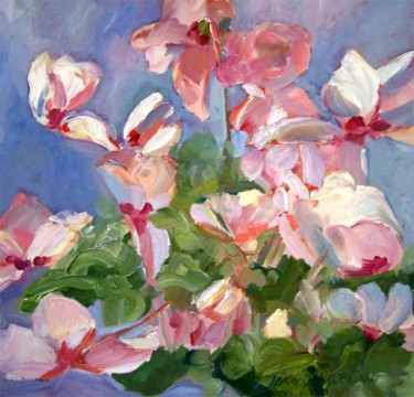 """Painting titled """"Cyclamen I"""" by Don Bourret, Original Art, Oil"""