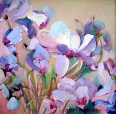 """Painting titled """"Cyclamen II"""" by Don Bourret, Original Art, Oil"""