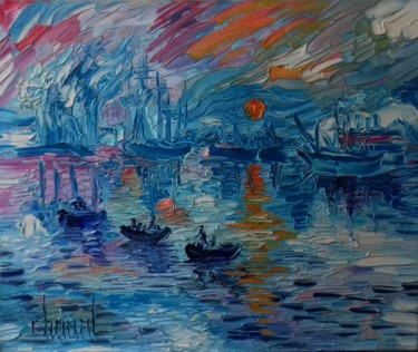 """Painting titled """"LE HAVRE"""" by Thierry Chanal, Original Art, Oil"""