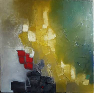 Color Painting, oil, abstract, artwork by Thérèse Bosc