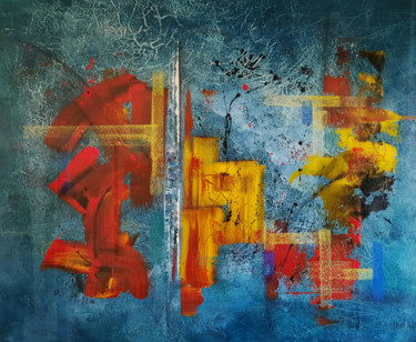 Abstract Painting, acrylic, abstract, artwork by Thierry Buisson (Theb)