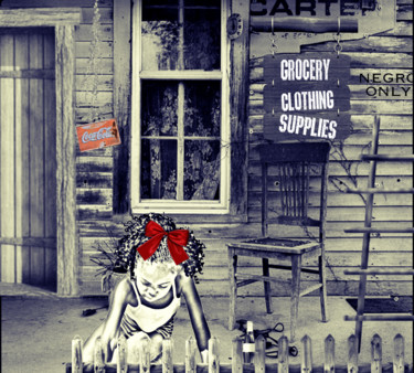 """Digital Arts titled """"Carter's Outlet"""" by Aileen Collins (The Java Girl Collection), Original Art, Collages"""