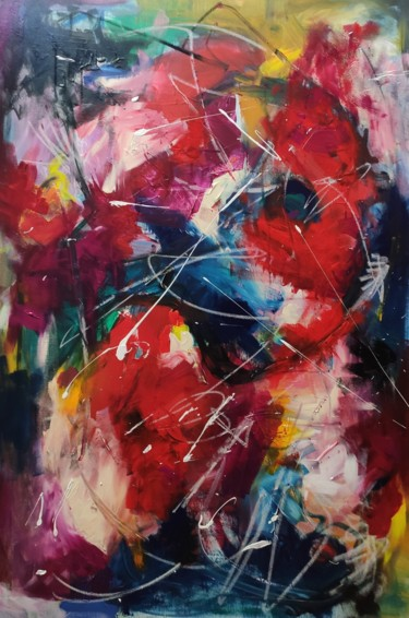 Color Painting, acrylic, abstract, artwork by Thia Path