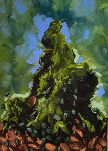 Tree Painting, oil, abstract, artwork by Thibaut Dapoigny