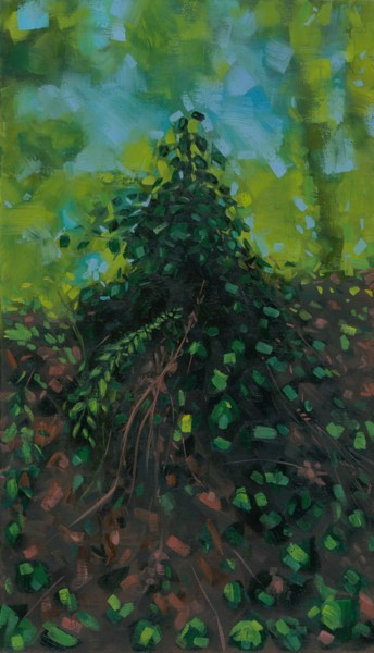 Forest Painting, oil, abstract, artwork by Thibaut Dapoigny