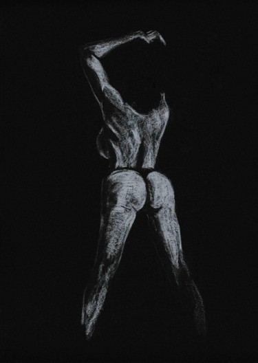Nude Drawing, graphite, figurative, artwork by Thibaut Dapoigny