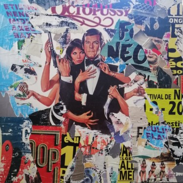 """Collages titled """"James Bond"""" by Thierry Spada, Original Art, Collages"""