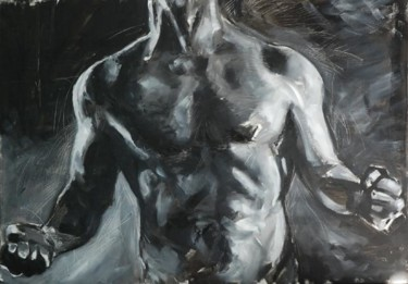 """Painting titled """"Rage"""" by Thierry Aubert, Original Art,"""