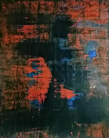 Color Painting, pigments, abstract, artwork by Thierry Menechal (TH.)