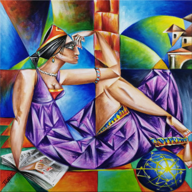Fantasy Painting, oil, expressionism, artwork by Thomas Lange