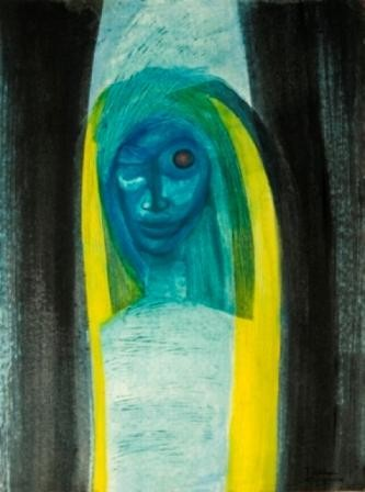 """Painting titled """"The disordered woman"""" by Thushara A., Original Art, Oil"""