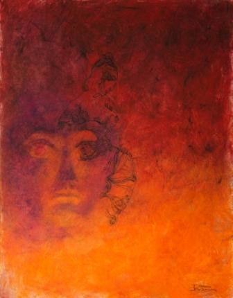 """Painting titled """"THE POWER"""" by Thushara A., Original Art, Oil"""