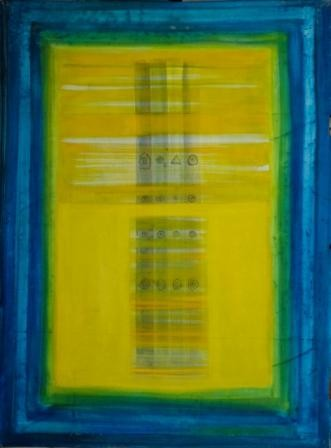 """Painting titled """"FINDING THE UNKNOWN"""" by Thushara A., Original Art, Oil"""